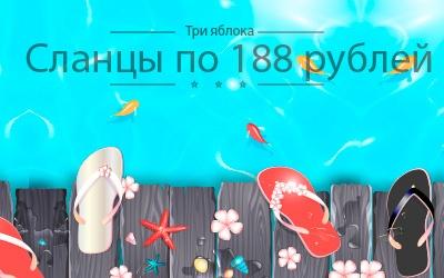 Популярные женские сланцы всего по 188 рублей - это реальность!