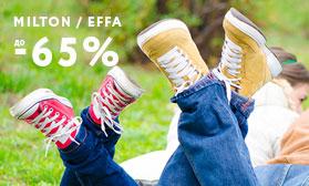 Почти даром: максимальные скидки на обувь MILTON и EFFA